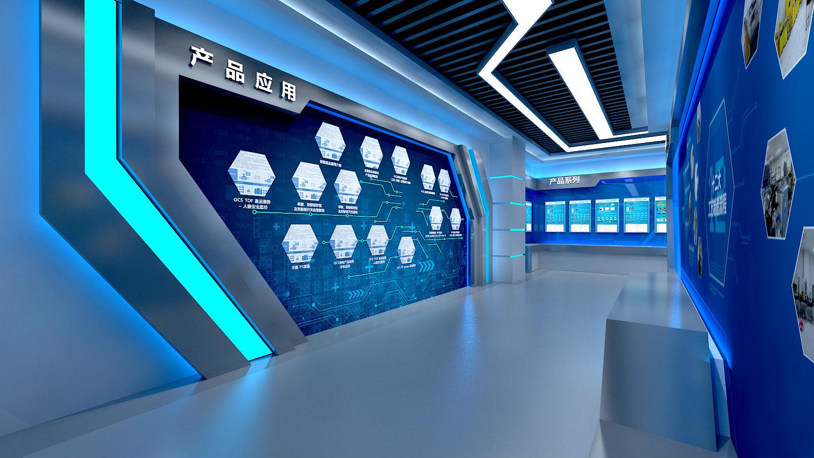 恒拓展厅设计方案图片的走廊设计效果图