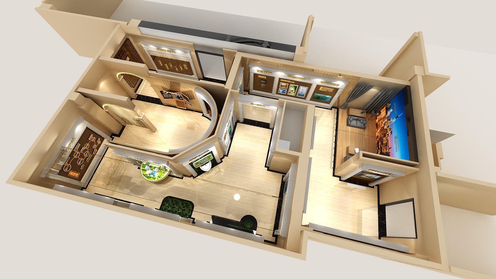 碧桂园新城体验馆设计方案之鸟瞰图2