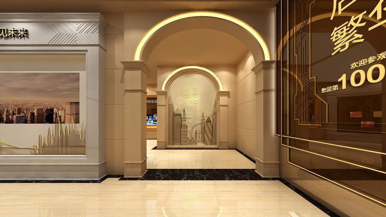 碧桂园新城体验馆设计方案之转角设计