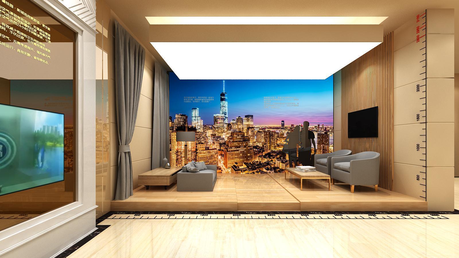 碧桂园新城体验馆设计方案之墙面造型设计10