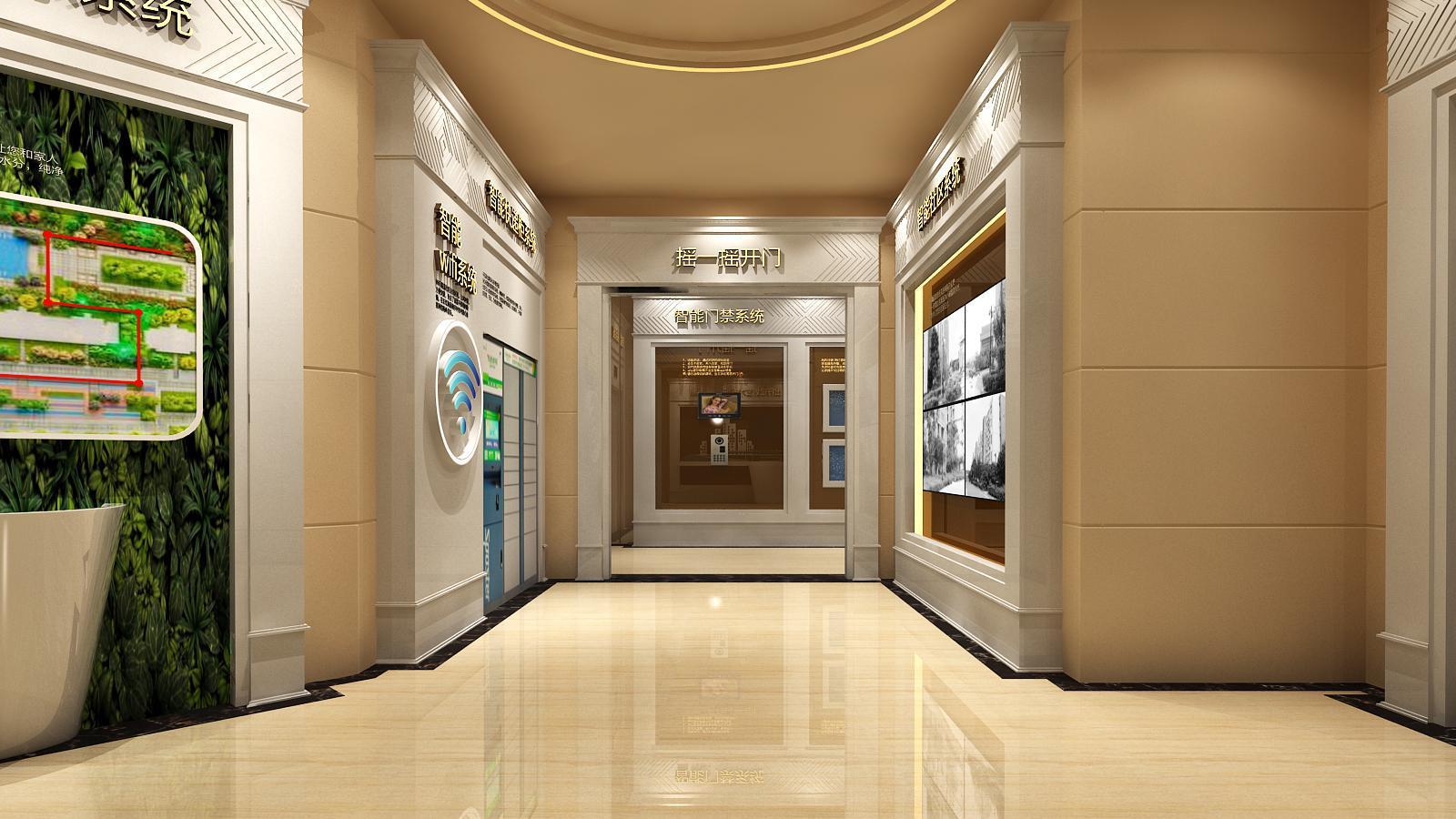碧桂园新城体验馆设计方案之墙面造型设计4