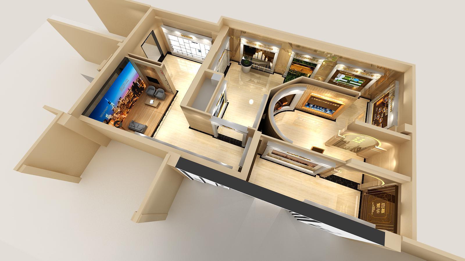 碧桂园新城体验馆设计方案之鸟瞰图