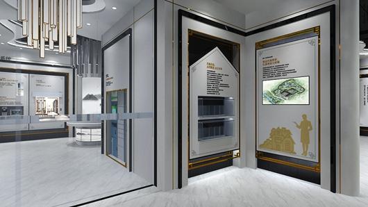 碧桂园观邸体验馆设计方案之转角设计效果图