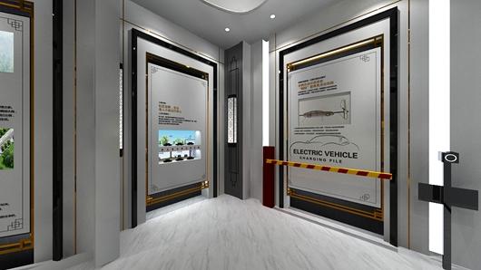 碧桂园观邸体验馆设计方案之转角设计效果图2