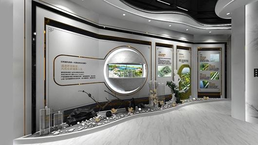 碧桂园观邸体验馆设计方案之墙面设计效果图
