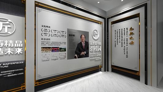 碧桂园观邸体验馆设计方案之形象墙设计效果图