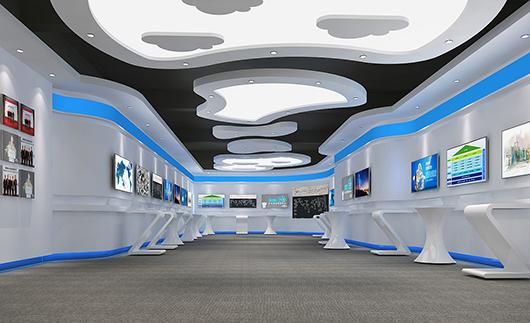 企业展厅搭建效果图