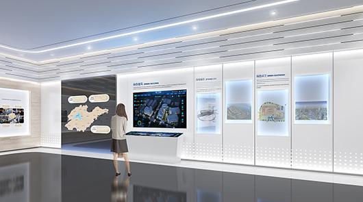 科技展厅设计方案之展示墙设计效果图