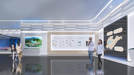 科技展厅设计方案之文化墙设计效果图