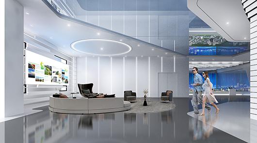 科技展厅设计方案之洽谈区设计效果图