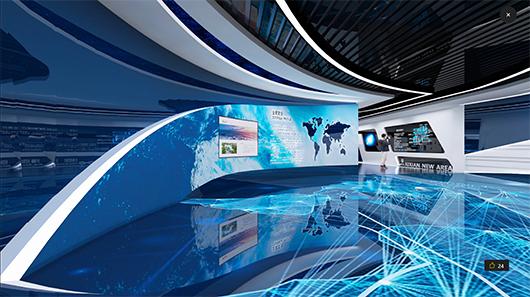 多媒体展厅设计方案之展示大厅设计效果图
