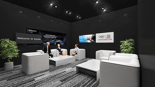 汽车展台设计效果图之客户咨询区设计