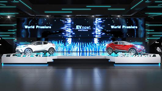 汽车展台设计效果图之产品区设计效果图