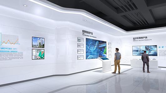 医疗展厅设计方案之墙面设计效果图2