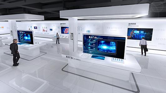 医疗展厅设计方案之产品展示效果图
