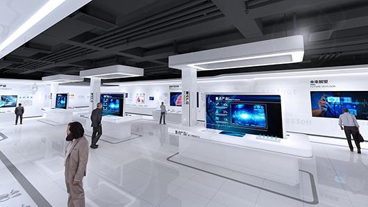 医疗健康展厅设计方案之展示大厅设计效果图