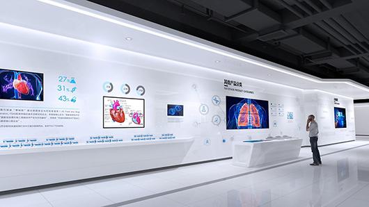 医疗展厅设计方案之墙面设计效果图3