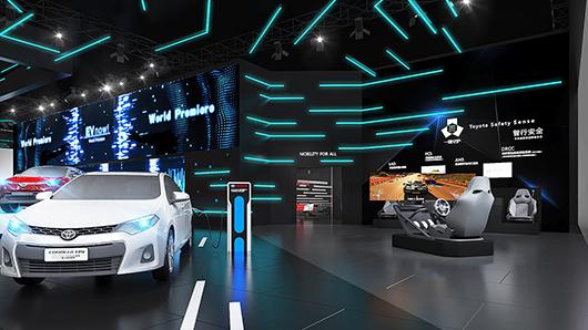 汽车展台设计效果图之产品体验区设计效果图