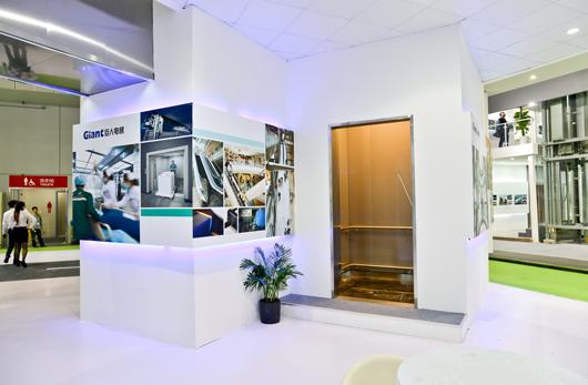 中国国际电梯展览会展台设计搭建局部效果图
