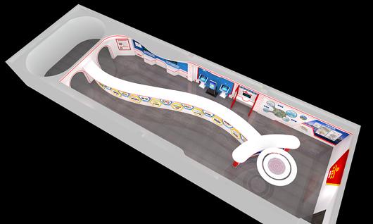 党建馆展厅设计效果图之鸟瞰图