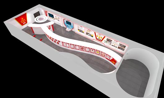 党建馆展厅设计效果图之鸟瞰图2