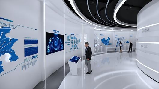 上海展厅展览设计公司制作的展厅设计装修效果图
