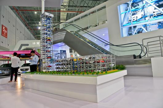 中国国际电梯展览会展台设计搭建的内部设计效果图2