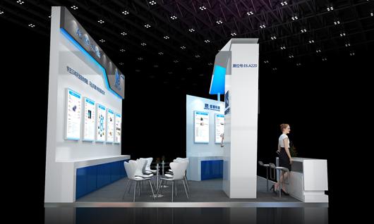 中国国际传感器技术与应用展览会展台设计搭建侧面效果图3