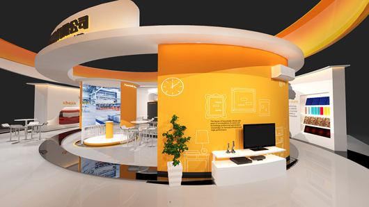 展会设计搭建方案之局部设计效果图