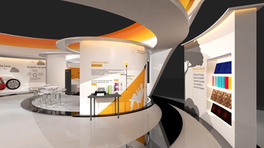 展会设计搭建方案之局部设计图