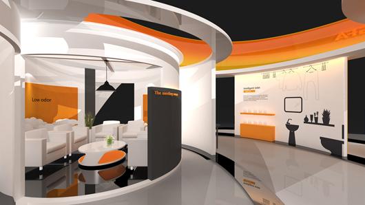 展会设计搭建方案之内部设计效果图之局部设计效果图3