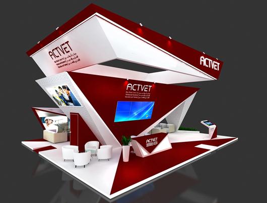 展会展台设计方案之侧面效果图3