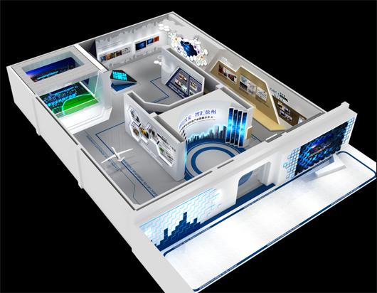 科技产业园展厅设计方案的鸟瞰图