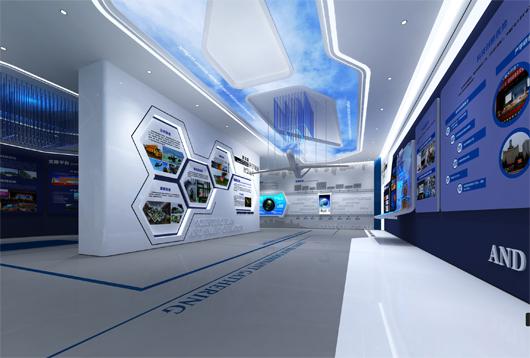 科技产业园展厅设计方案之展示区域设计效果图3