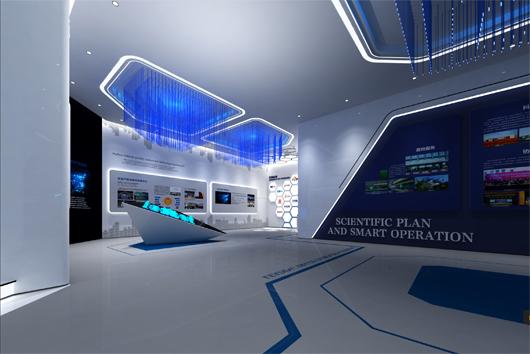 科技产业园展厅设计方案之展示区域设计效果图2