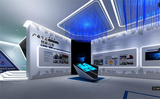 科技产业园展厅设计方案之展示区域设计效果图