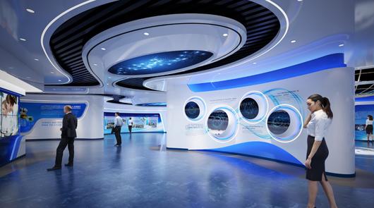 大数据展厅设计效果图
