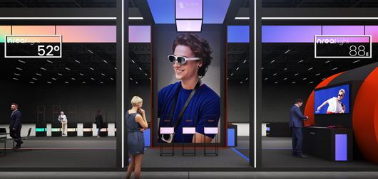 世界移动通信大会展台设计搭建方案之内部设计效果图4