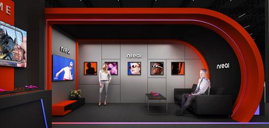 世界移动通信大会展台设计搭建方案之内部设计效果图