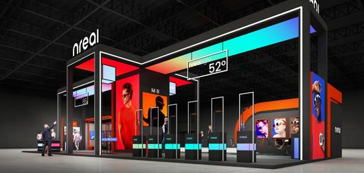 世界移动通信大会展台设计搭建方案之侧面设计效果图