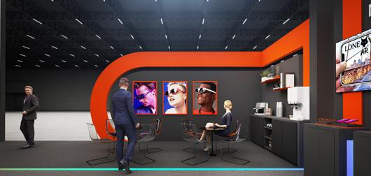 世界移动通信大会展台设计搭建方案之内部设计效果图6