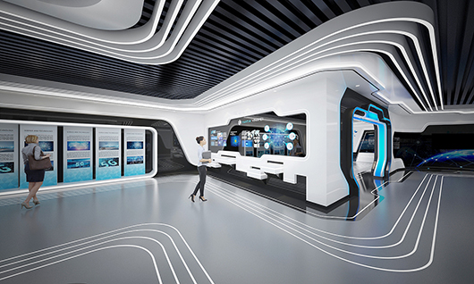 5g展厅设计方案之内部设计效果图