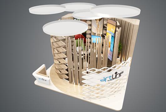 小型展台设计效果图3