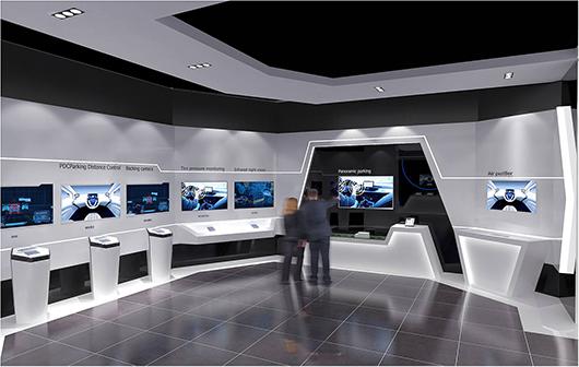 新能源汽车展厅设计方案之展示区设计2