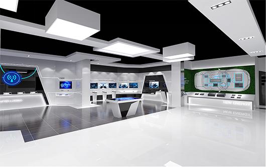 新能源汽车展厅设计方案之展示大厅设计效果图