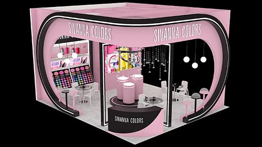 化妆品展台设计效果图2