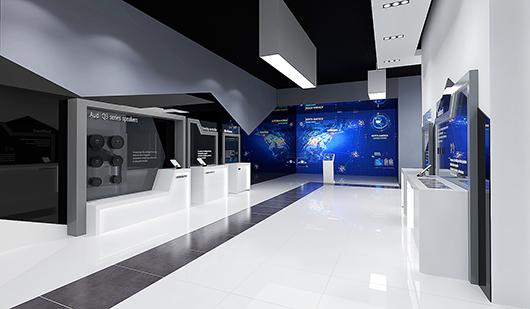 新能源汽车展厅设计方案之走廊设计效果图