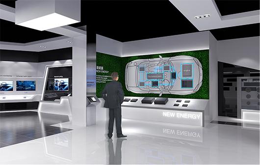 新能源汽车展厅设计方案之产品展示设计效果图
