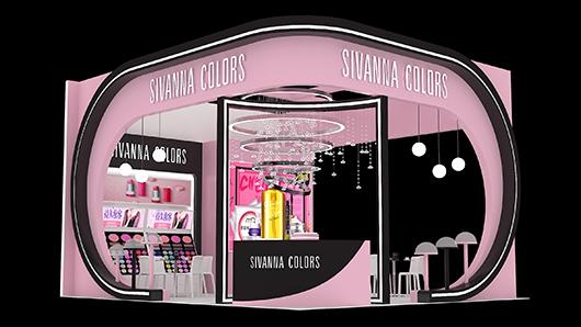 化妆品展台设计效果图