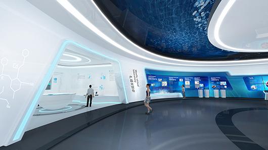 科技企业展厅设计方案之展示设计效果图3